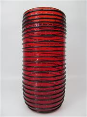 Sale 8402B - Lot 72 - Murano Atolli Vase in Red & Black - 35cm high, 15cm diameter