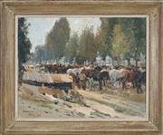 Sale 8449A - Lot 550 - Harold Septimus Power (1878 - 1951) - Horses, France 1918 50 x 48cm