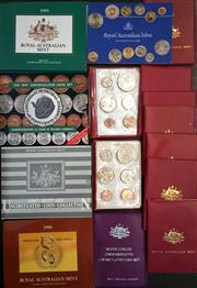 Sale 8465J - Lot 326 - 15 UNCIRCULATED MINT COIN SETS; 1974- 80 (x2), 81, 83-87, & 91.