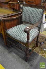 Sale 8545 - Lot 1030 - Pair of Oak Carvers