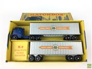Sale 8559A - Lot 36 - Lesney Matchbox M-9 Interstate Double Freighter, boxed
