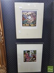 Sale 8544 - Lot 2016 - 2 Thea Proctor Framed Prints