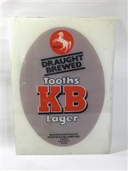 Sale 8600A - Lot 94 - KB beer sign, H 57 x W 41cm.