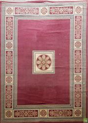 Sale 8601 - Lot 1197 - Large Red and Cream Tone Machine Made Carpet
