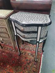 Sale 8648C - Lot 1024 - Mother of Pearl Inlaid Side Table with Two Drawers