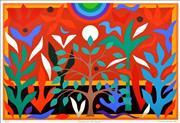 Sale 8657E - Lot 5008 - John Coburn (1925 - 2006) - Paradise Garden 48 x 72cm (sheet size: 55 x 75cm)