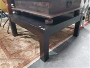 Sale 8787 - Lot 1054 - Modern Timber Coffee Table with Central Glass Insert