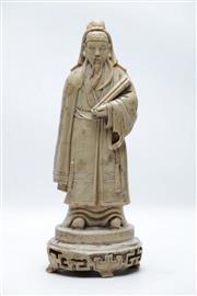 Sale 8864O - Lot 658 - Carved Soapstone Figure Of Shou Lao H: 28cm