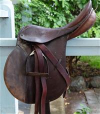 Sale 8934H - Lot 1 - A Jons Stubben vintage leather saddle.