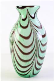 Sale 8944 - Lot 3 - Green Italian art glass vase with by Castellani (H31cm)