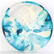 Sale 8980 - Lot 69 - Dinosaur Design Blue Abstract bowl (Dia 34cm, small chip to rim)