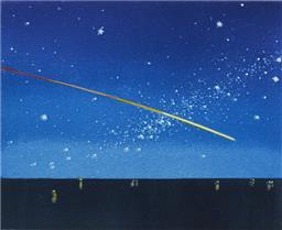 Sale 9195 - Lot 600 - TIM STORRIER (1949 - ) - Night 30 x 29.5 cm
