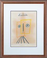 Sale 8800 - Lot 38 - Picasso - Face 38 x 27cm