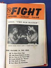 Sale 8419A - Lot 66 - Boxing News 1940s - 4 bound volumes of Boxing News 1946-1949, and 14 more