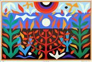 Sale 8657E - Lot 5009 - John Coburn (1925 - 2006) - Tree of Life 72 x 48cm (frame: 75 x 55cm)