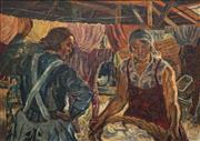 Sale 8683 - Lot 557 - Andor Timon - Washerwomen 83 x 113.5cm