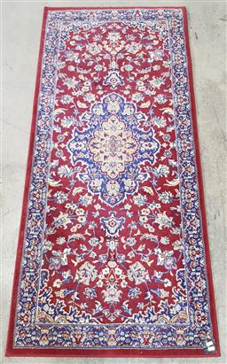 Sale 9191 - Lot 1096 - Persian red & blue tone hall runner (179x80cm)