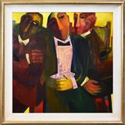 Sale 8286 - Lot 542 - Cynthia Breusch (1959 - ) - The Music Critics, 1995 90 x 90cm