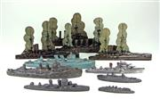 Sale 8330T - Lot 54 - Collection of Vintage Lead and Tin Battleships; six lead ships incl V-Toy and 4 flat tin Models from 1920s Presented with Chums Pa...