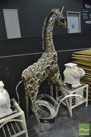 Sale 8398 - Lot 1004 - Large Giraffe Garden Figure
