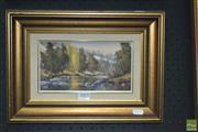 Sale 8425T - Lot 2005 - Werner Filipich (1943 - ) - River 11.5 x 21.5cm