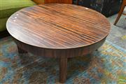 Sale 8528 - Lot 1009 - Art Deco Round Timber Coffee Table