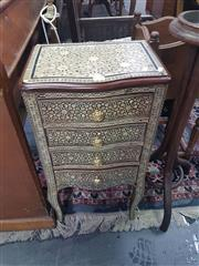 Sale 8648C - Lot 1025 - Mother of Pearl Inlaid Bedside with Four Drawers