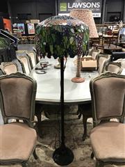 Sale 8787 - Lot 1016 - Leadlight Shade Floor Lamp