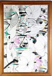 Sale 8869C - Lot 654 - A Large Framed Print of Flowers (70cm x 101cm)