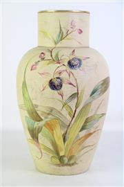 Sale 8913C - Lot 29 - A Large Crackle Glaze Hand Painted Vase (H 43cm)