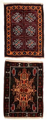 Sale 8402C - Lot 30 - 2 Persian Door Mats 80cm x 60cm