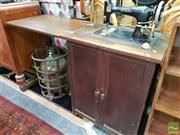 Sale 8480 - Lot 1040 - Bluebird Sewing Machine in Cabinet