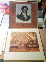 Sale 8659 - Lot 2039 - Portfolio of Reproduction Engravings, Omaggio a Raffaello Sanzio, plus another portfolio of lithographs, by Jonas Kazimieras