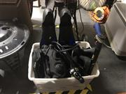 Sale 8789 - Lot 2231 - Collection of Scuba Gear inc Three Regulators, Two Scuba Vests and an Enforcer 500 Mirage Rayzor Spear Gun in Case, Two Pairs of Boot