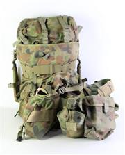 Sale 8952M - Lot 656 - Army Camouflage Backpack And Webbing