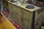 Sale 8289 - Lot 1006 - Chequered Pattern Three Drawer Sideboard