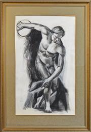 Sale 8301A - Lot 66 - Belinda Wilson (1954 - ) - Discobolus of Myron 118 x 71cm