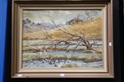 Sale 8309A - Lot 98 - Jeanette Stedman (1918 - 2001) - Country Scene with Homestead 44 x 59.5cm