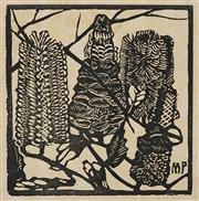 Sale 8420 - Lot 587 - Margaret Preston (1875 - 1963) - Banksia, c1932 15 x 14.5cm