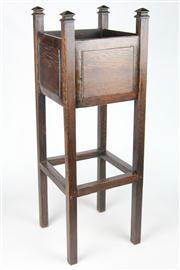 Sale 8445A - Lot 78 - Victorian Oak Planter Box - height - 90cm