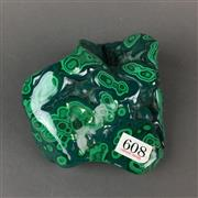Sale 8638 - Lot 608 - Malachite in free form, Democratic Republic of the Congo.