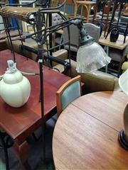 Sale 8669 - Lot 1060 - Art Deco Standard Lamp with Glass Shade