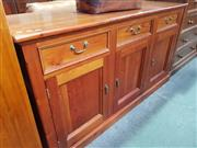 Sale 8672 - Lot 1040 - Timber Three Door Three Drawer Sideboard