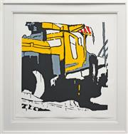 Sale 8330A - Lot 62 - Jasper Knight (1978 - ) - Truck Overtaking, 2009 65 x 65cm