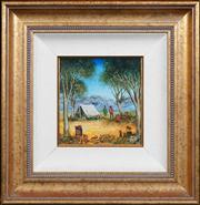 Sale 8420 - Lot 526 - Kevin Charles (Pro) Hart (1928 - 2006) - Campers 21.5 x 19.5cm