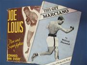 Sale 8450S - Lot 767 - Joe Louis - a box containing 8 books on Joe Louis