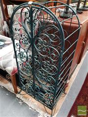 Sale 8480 - Lot 1045 - Metal Cage Wine Rack