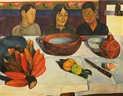 Sale 8578T - Lot 2004 - Artist Unknown The Meal (Les Bananas), 1891 (After Paul Gauguin), oil on canvas, 62 x 92cm, unsigned