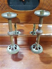 Sale 8826 - Lot 1007 - Pair of Copper Candle Sticks