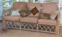 Sale 8934H - Lot 7 - A cane three seater lounge